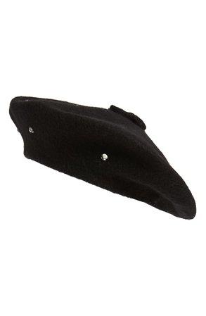 kate spade new york bedazzled felt beret | Nordstrom