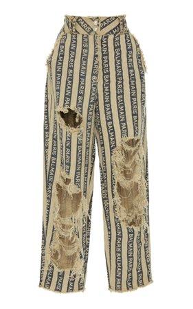 Balmain Paris Stripe Pant by Balmain   Moda Operandi