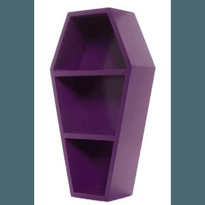 Coffin Purple Wall Shelf by Sourpuss   Gifts & ware   Coffin