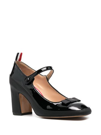 Thom Browne patent leather mary-jane pumps
