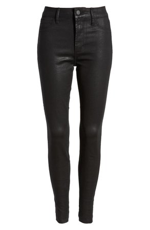 Articles of Society Hilary High Waist Coated Skinny Jeans (Hunter) | Nordstrom