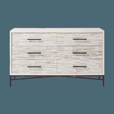 Wood Tiled 6-Drawer Dresser West Elm