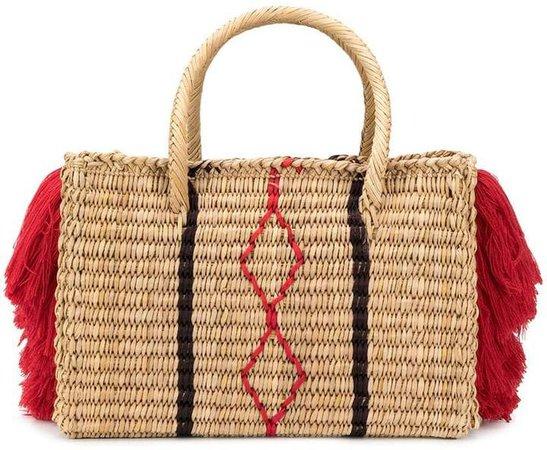 Nannacay fringe detail basket