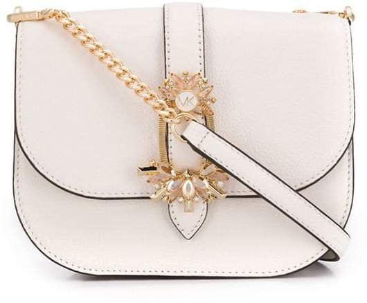 crystal buckle crossbody bag