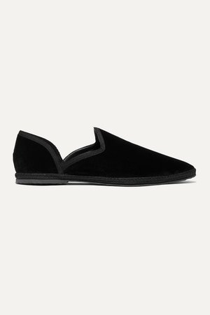 Friulane Velvet Slippers - Black