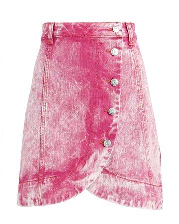 Ganni | Acid Wash Denim Mini Skirt | INTERMIX®