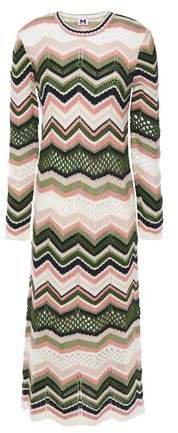 Crochet-knit Midi Dress