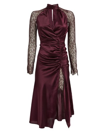 Silk Lingerie Lace Dress