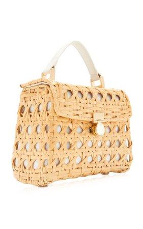 Sybil Rattan Top Handle Bag By Cult Gaia