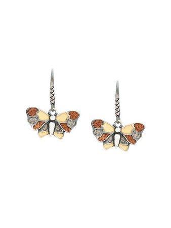 Bottega Veneta enamelled butterfly earrings