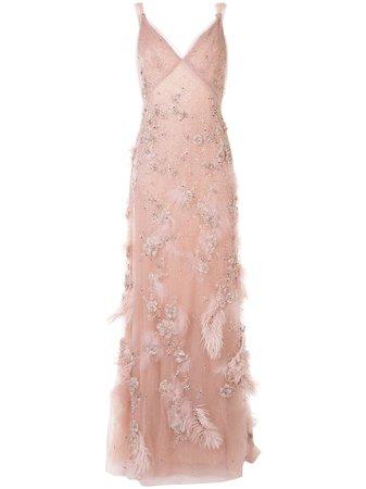 Marchesa Embellished A-line Evening Gown - Farfetch