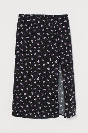 High-split Skirt - Black