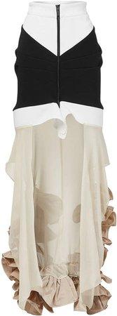 Maticevski Frelate Two-Tone Faille Skirt