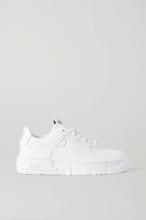 Air Force 1 Pixel Leather Sneakers - White