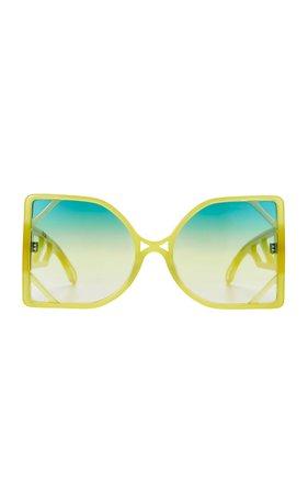 Poppy Lissiman Patio Oversized Square-Frame Sunglasses