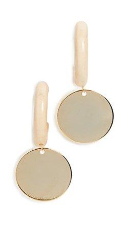 Sophie Monet Серьги-кольца в виде монеток среднего размера | SHOPBOP