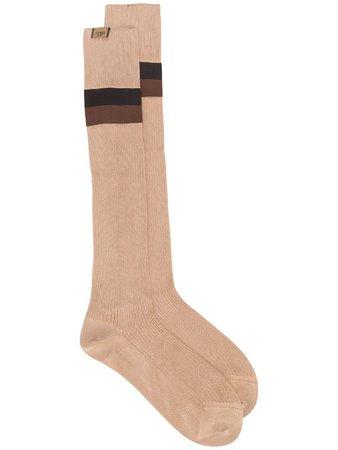 FENDI striped long socks
