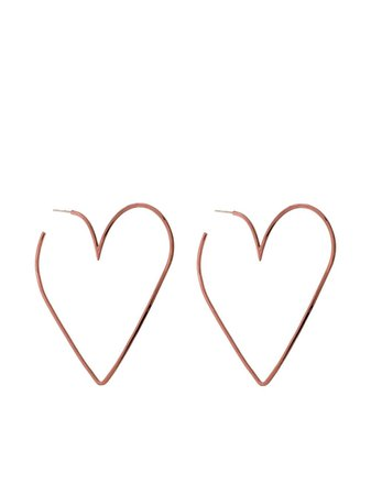 Isabel Marant Shine In Love heart-shaped Earrings - Farfetch