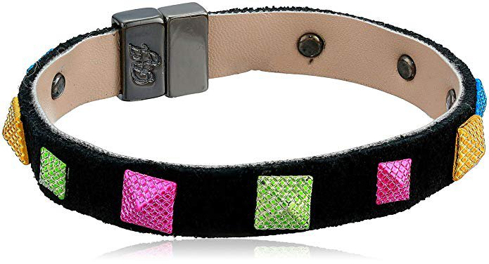 Amazon.com: Betsey Johnson (GBG) Women's Mixed Studded Magnetic Wrap Bracelet, Peacock Dark Multi, One Size: Gateway