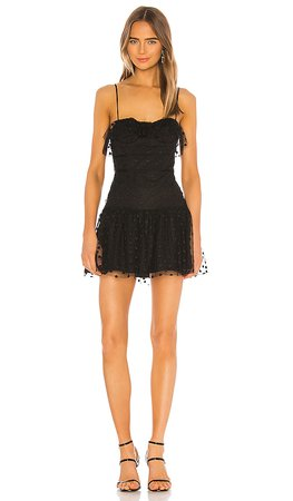 REVOLVE black bustier mini dress