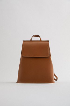 BACKPACK WITH FLAP AND TOPSTITCHING | ZARA Thailand