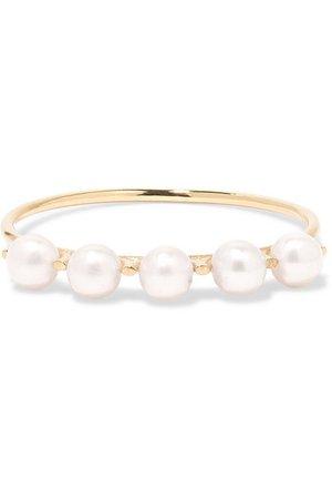 SARAH & SEBASTIAN | Phoebe Perle gold pearl ring | NET-A-PORTER.COM