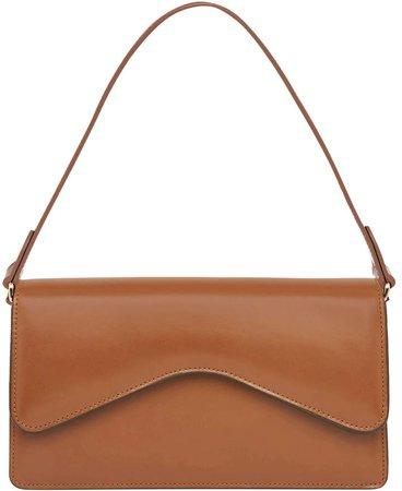 Rylan Baguette Leather Shoulder Bag