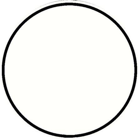 Round Black Frame