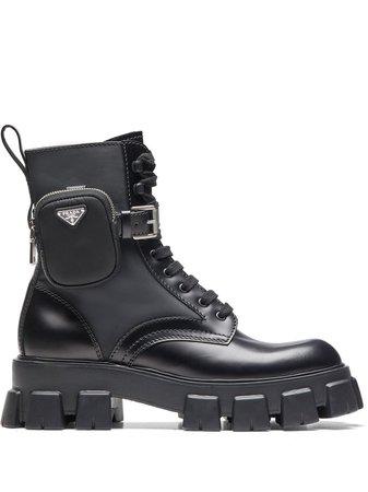 Prada Combat Boots - Farfetch