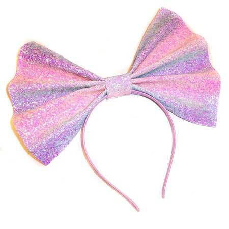 Giant Glitter Head Bow Swizzle | Etsy
