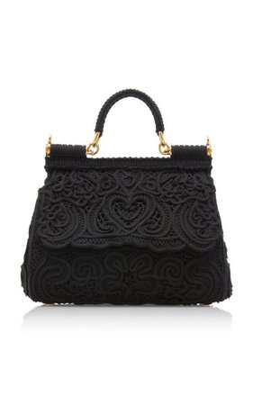 Sicily Cordonetto Lace Top Handle Bag By Dolce & Gabbana | Moda Operandi