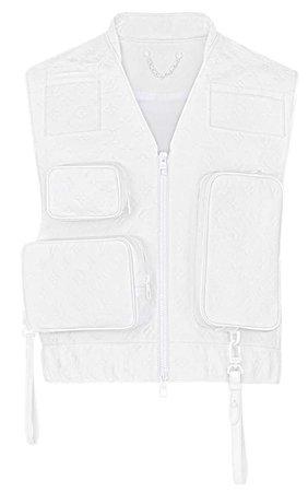 white Louis Vuitton jacket