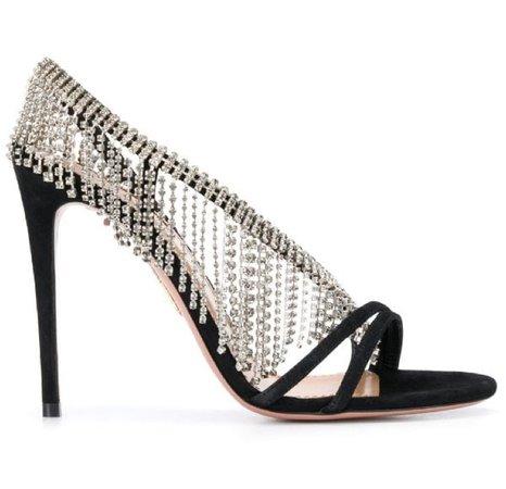 Aquazurra sandals black sandal heels