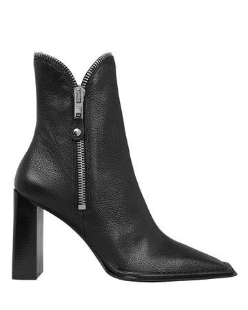 Lane Zip Leather Booties