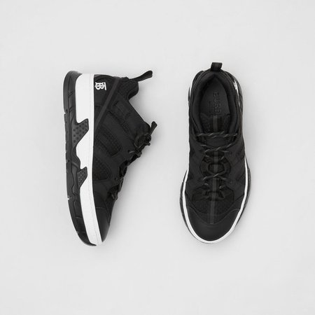 Mesh and Nubuck Union Sneakers