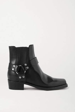 Cavalry Leather Ankle Boots - Black