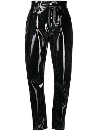 The Attico Pantalones Revestidos Con Tiro Alto - Farfetch