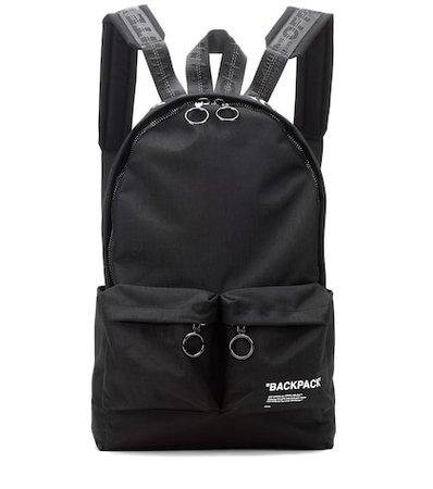 Printed canvas backpack