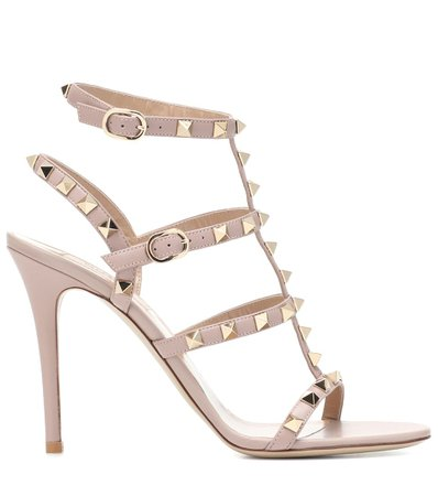 Valentino Garavani Rockstud Leather Sandals | Valentino - Mytheresa