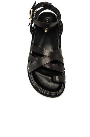 ALOHAS Buckle Up Sandal in Black   REVOLVE