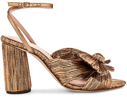 Camellia Knot Heeled Sandal