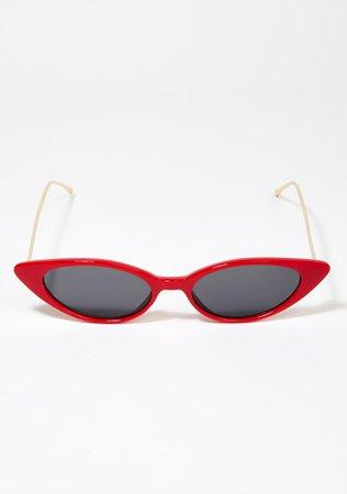 Red Isla Cat Eye Sunglasses | Dolls Kill