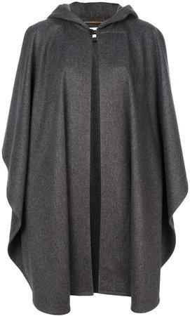 oversized hooded cape