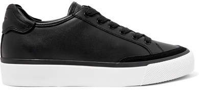 Army Suede-trimmed Leather Sneakers - Black