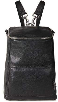 Convertible Medium Pebbled-leather Backpack