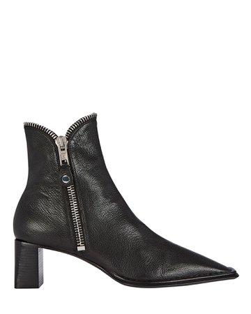 Alexander Wang Lane Zip Leather Booties | INTERMIX®