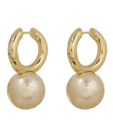 CELINE Dot Loop Hoop Earrings