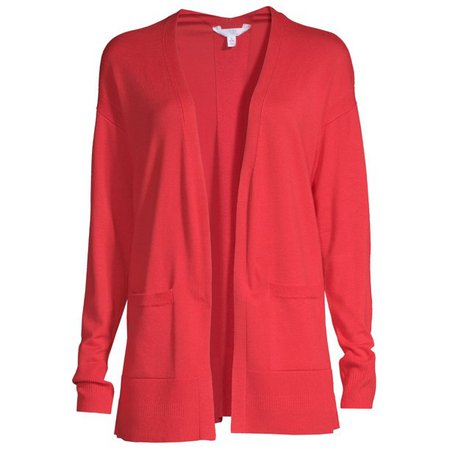 Time and Tru - Time and Tru Women's Open Front Cardigan - Walmart.com - Walmart.com red