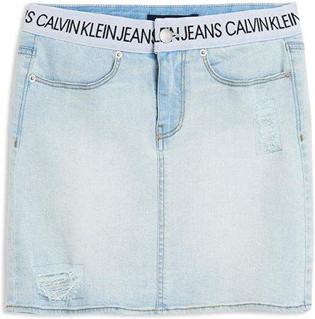 Calvin Klein Big Girls' Denim Skirt
