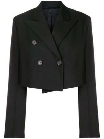 Helmut Lang classic cropped blazer $704 - Buy Online - Mobile Friendly, Fast Delivery, Price